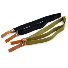 3 colors hot sale basic gun sling by leather and cotton webbing AK gun sling