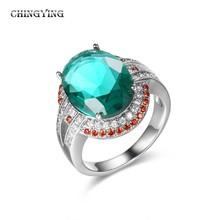 Nice ring with egg shaped stone set