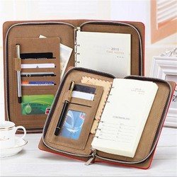 2015 new design organizer planner agenda diary with pen and calculator ,2015 leather daily planner diary planner 2015 from china
