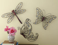 Nature Inspired Metal Crafts Metal Butterfly Wall Decoration Garden Art