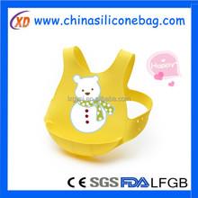 Soft Bib, Green/Yellow bibs silicone material
