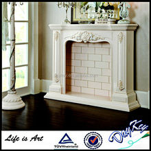 Factory Newest Indoor Hand Carved Freestanding Decorative Stone Fireplace
