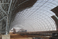 arch storage building,shed space frame systems