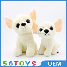 hot selling product sitting courage the cowardly plush dog soft stuffed white dog with big eyes