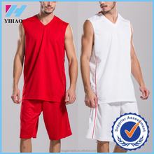 Yihao Top Quality Dry Fit Basketball Sports Wear 2015 New Design Plain Basketball Uniforms