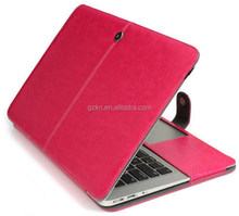 Premium quality folio leather case for Macbook Air full body deluxe cover laptop accessory