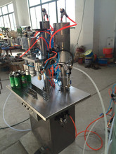 aerosol filling and sealing machine for air freshener, pesticide and paint