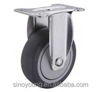 Medium duty thermoplastic rubber fixed caster