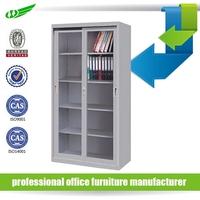 2 sliding door office storage steel mirrored file cabinet