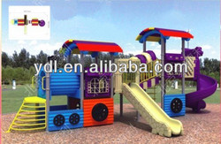 Best selling small outdoor plastic slide outside playground