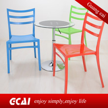 Lounge leisure green stackable plastic outdoor chairs