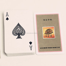 Promotional branded paper playing card deck set