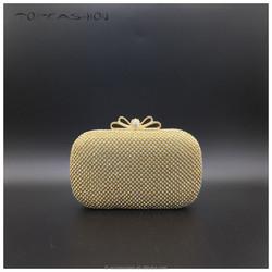 2015 Nude austrian crystal handbag for elegent ladies party clutch evening bags
