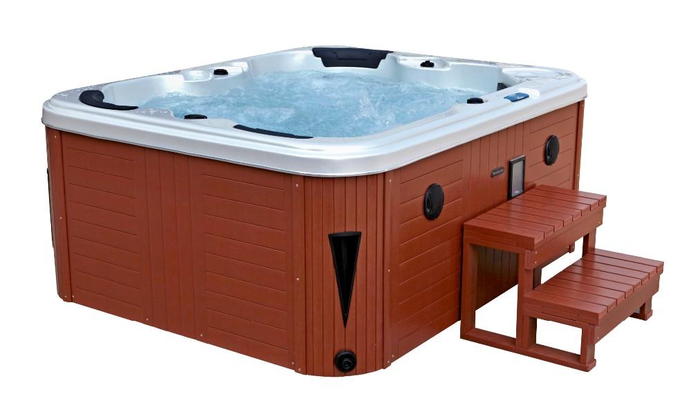 pfdjj jacuzzi grande exterior spa para personas con dos tumbonas