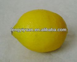 2014 hot selling lifelike artificial lemon fruit fake foam lemon
