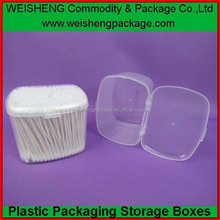 Popular stylish pp cotton swab storage box makeup cotton swab cotton bud storage box