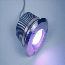 DMX IP67 9W,RGB underground light/led light/cylinder lamp glass