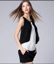 Gasa estilo blusa señora nueva moda blusa de la gasa 2015