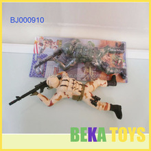 Naughty boys toy flashing plastic toy painted soldier creeping led lighting army force toy
