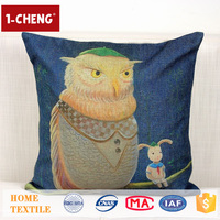 Trade Assurance Creative Cool Cartoon Design Printed Cushion Home Decor Pillow Case Decorative Chair Head Covers