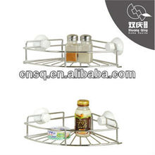 wall mounted corner basket shelf with suction cup