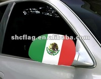 Popular hot sell mexico car mirror flags