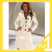 Europe style hot sale high quality cut fashionable cashmere slim woolen overcoat wind coat Y3975 FREE SHIPPING