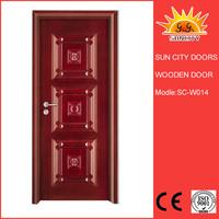 Stylish interior oak wood arch shaped door SC-W014
