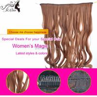 Non shiny top kanekalon synthetic clip hair extension, plastic clip for hair extensions