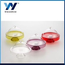 Taiwan colorful acrylic cake stand dessert plate