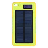 2015 High Quality OEM FCC CE RoHS Wholesale Travel Fashion Digital Display Waterproof Solar Portable Power Bank 8000mAh