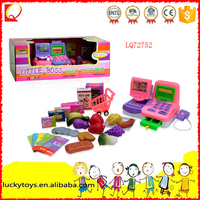 Plastic Pretend Market Toy Kids Play Electronic Cashier