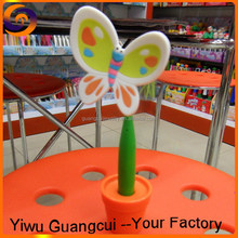 2015 PVC cartoon butterfly ball point pen
