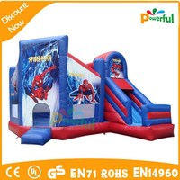 2015 New design funny inflatable bouncy castle,Spider-Man bouncy castle,jumping castle for sale