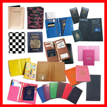 pu leather passport cover with stamp printing