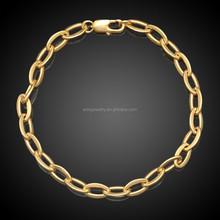 18K Golg Simple O -shaped Copper Bracelet