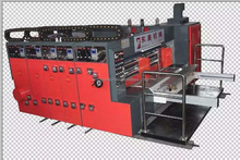 full automatic middle speed 1--4 color flexo printing slotting and die cutting machine ;mark andy