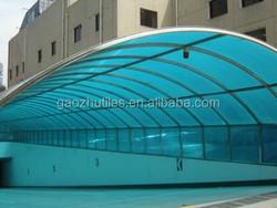 2015 new plastic roof tile building materials translucent fibreglass flat roofing