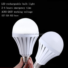 good function rechargeable led bulb light 5W 7W 9W 4hrs emergency led lamp