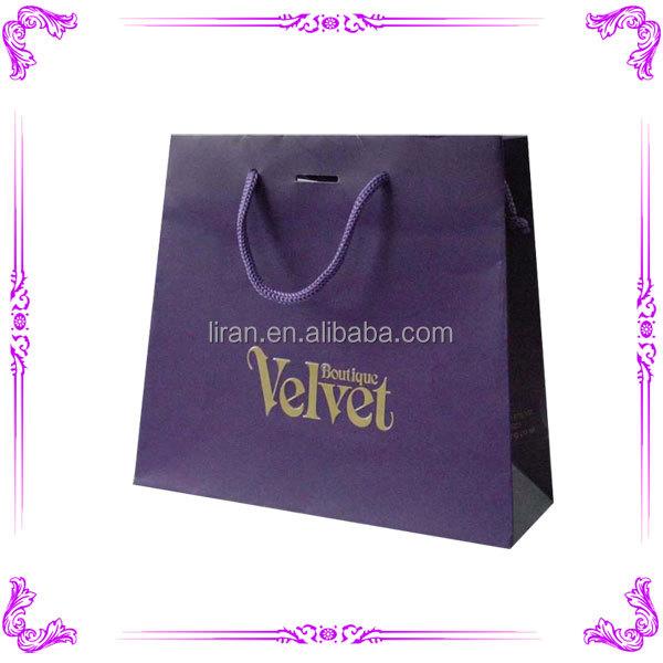 Wholesale luxury paper shopping bag & decorative paper bags & black paper bag