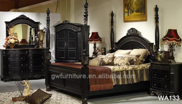 Venta caliente Oriente Medio Estilo negro muebles del dormitorio ...