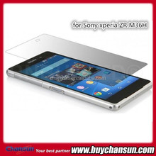 Bulk buy from China for Sony xperia ZR M36H 9H tempered glass screen film