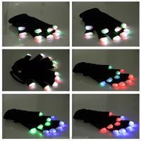 led gloves/RILIN SAFETYHigh Quality led finger light gloves ,party favor glow in the dark gloves with CE certificate EN388 EN420