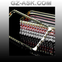 Diamond Bling bulk case for iphone 5 5s case and gold mobile housing mid frame Bumper Case Cover express