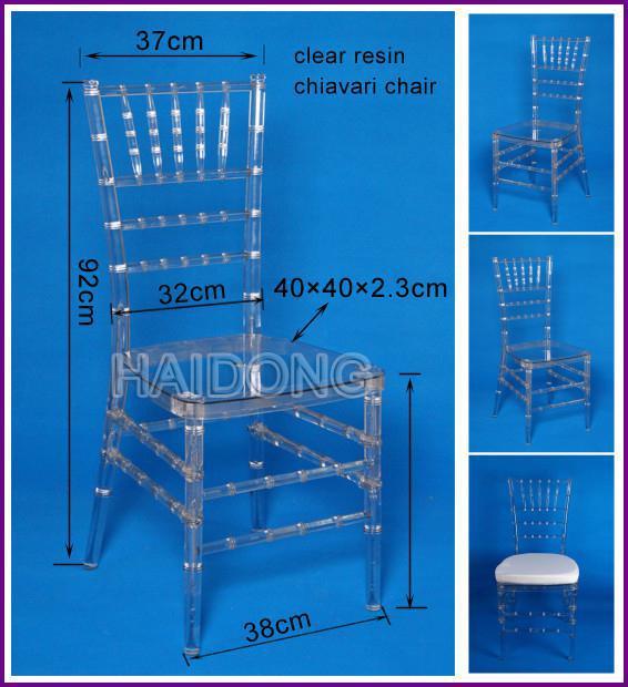 White Resin Chiavari Chair