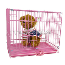 2015 hot sale pink metal dog cage cheap dog crates