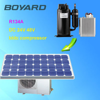r134a boyard brushless bldc 48v dc refrigerator compressor for solar air conditioner for homes