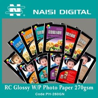 HOT SALE Factory Price 260gsm Inkjet High glossy photo paper