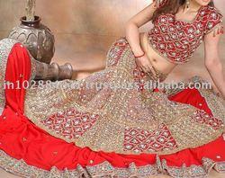 Designer Embroidered Bridal Lehenga/Lengha ~ Wedding Indian Lehengas Choli ~ Bollywood Ghagra
