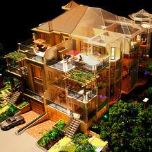 Boutique handmade miniature model villa with internal layout